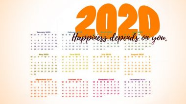 2020 Holiday Calendar: जाणून घ्या कधी आहेत सुट्ट्या आणि कसे करू शकता तुम्ही नवीन वर्षातील फिरण्याचे प्लॅन्स