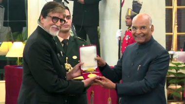 राष्ट्रपती रामनाथ कोविंद यांच्या हस्ते महानायक अमिताभ बच्चन यांना दादासाहेब फाळके पुरस्कार प्रदान