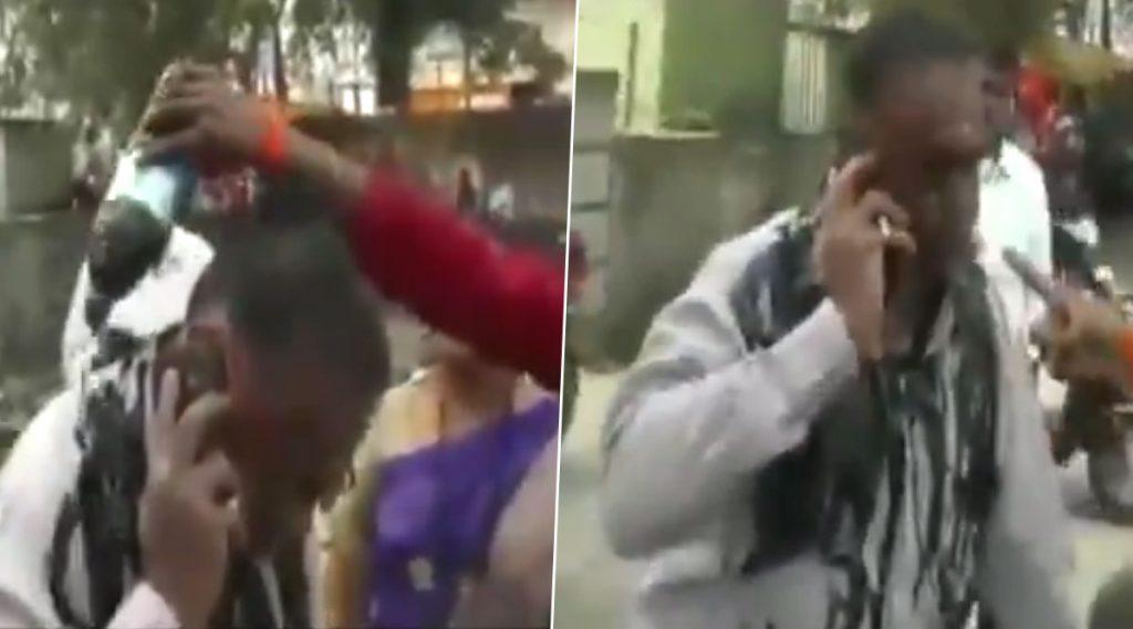 बीड: मुख्यमंत्री उद्धव ठाकरे यांच्यावर आक्षेपार्ह टिपण्णी करणार्यावर महिला शिवसैनिकेने फेकली शाई (Watch Video)