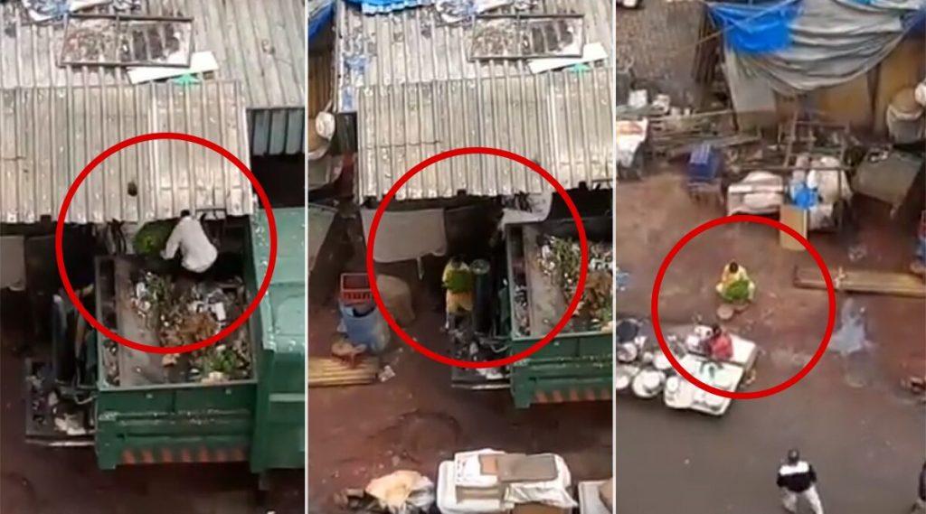 मुंबई: कचरा गाडीतून भाज्या वेचून विकल्या जाणारा व्हिडिओ सोशल मीडियात व्हायरल; कुलाबा परिसरातील क्लिप असल्याचा नेटकर्याचा दावा