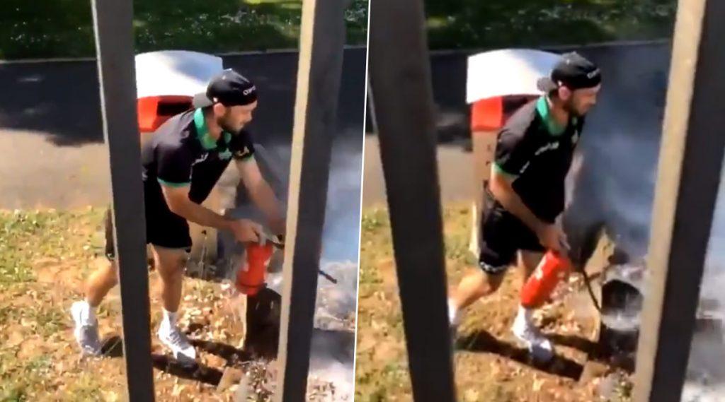 Video: बिग बॅश लीगमॅचच्याआधीमेलबर्न स्टार्सचा कर्णधार ग्लेन मॅक्सवेल बनला Firefighter, स्टेडियम बाहेर लागलेल्या आगीवर आणले नियंत्रण