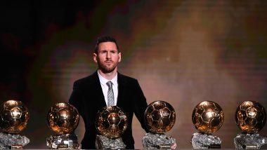 Ballon d'Or 2019: क्रिस्टियानो रोनाल्डो ला मागे टाकतबार्सिलोनाच्या लियोनेल मेस्सी ने रेकॉर्ड सहाव्यांदा जिंकला बॅलन डी ऑर पुरस्कार