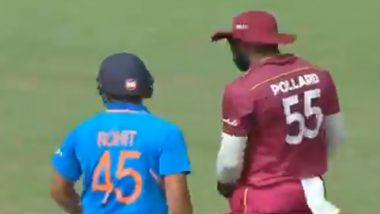 चेन्नई वनडे मॅचमध्येकिरोन पोलार्ड याने केली अशी हरकत कीमैदानातच रोहितशर्मा याने म्हटले अपशब्द, पाहा Video