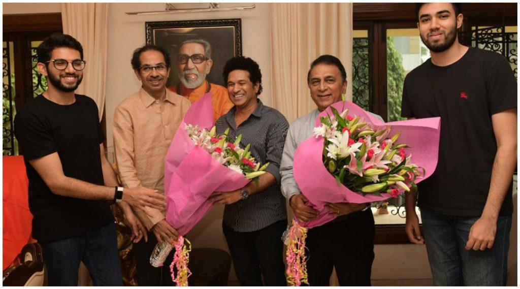 मुंबई: मुख्यमंत्री उद्धव ठाकरे यांच्या भेटीसाठी सचिन तेंडुलकर, सुनील गावस्कर 'मातोश्री'वर