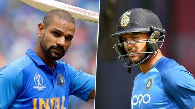IND vs WI ODI 2019: वेस्ट इंडिजविरुद्धवनडे मालिकेतून शिखर धवन आऊट, मयंक अग्रवाल यालामिळाली संधी