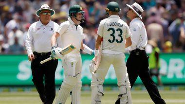 AUS vs NZ 2nd Test:स्टीव्ह स्मिथ याचा डेड बॉलच्या निर्णयावरूनअंपायरशी झाला वाद, किवी फॅन्सने केली हुटींग, पाहा Video