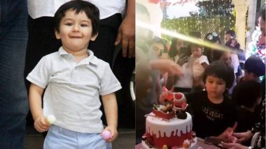 सैफ अली खानने असा साजरा केला आपला नवाब तैमुरचा वाढदिवस; Paparazzi ना भरवला केक, Video Viral