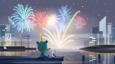 'नवीन वर्षांची संध्याकाळ' सेलिब्रेशनचं गूगलने साकारलं खास डुडल; जगभरात आज मध्यरात्री होणार 2020 चं स्वागत