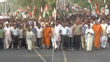 पश्चिम बंगालच्या मुख्यमंत्री ममता बॅनर्जी यांनी Citizenship Amendment Act आणि NRC च्या विरोधात काढला निषेध मोर्चा