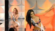 Miss Universe 2019: स्विमसूट राऊंडमध्ये पाय घसरून पडली स्पर्धक; Watch Video