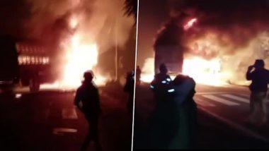 उत्तर प्रदेशमधील कन्नौज येथे ट्रक-बसच्या धडकेत 20 जणांचा मृत्यू, तर 21 जण जखमी