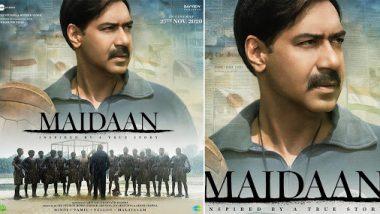 'मैदान' चित्रपटातील अजय देवगणचा लुक व्हायरल; 'बदल घडवण्यासाठी एकटाच पुरेसा' म्हणत शेअर केले पोस्टर