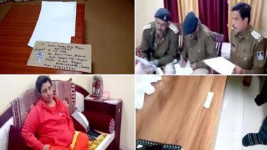 भाजप खासदार प्रज्ञा सिंह ठाकूर यांच्या निवासस्थानी संशयित पत्र; पंतप्रधान नरेंद्र मोदी, अमित शाह यांच्यासह अजित डोभाल यांचे फोटो चिन्हांकीत