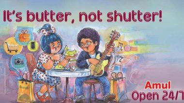 Amul Topical: 'इट्स बटर, नॉट शटर', अमूल कंपनीच्या जाहिरातीत 'मुंबई नाईट लाईफ' विषयावर मजेदार भाष्य