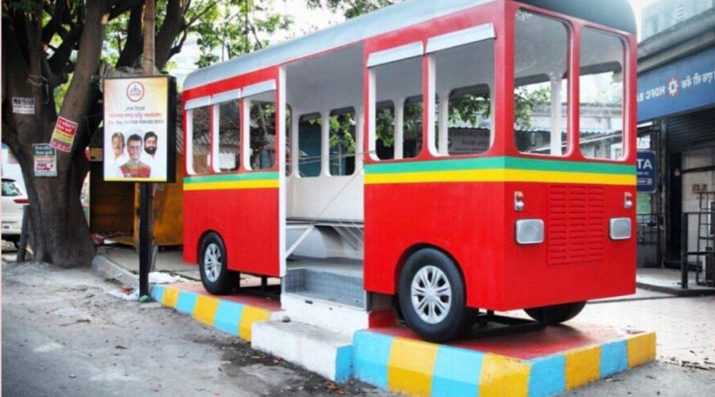 शिवसेना नगरसेवक पुर्वेश सरनाईक यांच्या संकल्पनेतूनठाणेकरांसाठी अनोख्या पद्धतीची बस शेल्टरची उभारणी