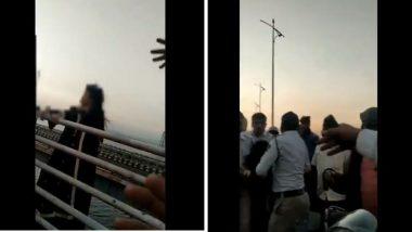 नवी मुंबई: वाशी पुलावरून सुसाईड करण्याचा महिलेचा प्रयत्न; ट्रॅफिक पोलिसांच्या सतर्कतेमुळे वाचला जीव (Watch Video)