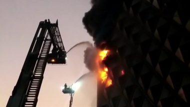 सुरतमधील रघुवीर मार्केटमध्ये भीषण आग; अग्निशमन दलाच्या तब्बल 40 गाड्या घटनास्थळी दाखल