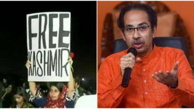 Free Kashmir Controversy:विरोधी पक्षाला समुपदेशनाची गरज; मुंबईत 'फ्री कश्मीर' पोस्टर झळकावणाऱ्या मेहक प्रभू हिचे 'सामना'तून समर्थन
