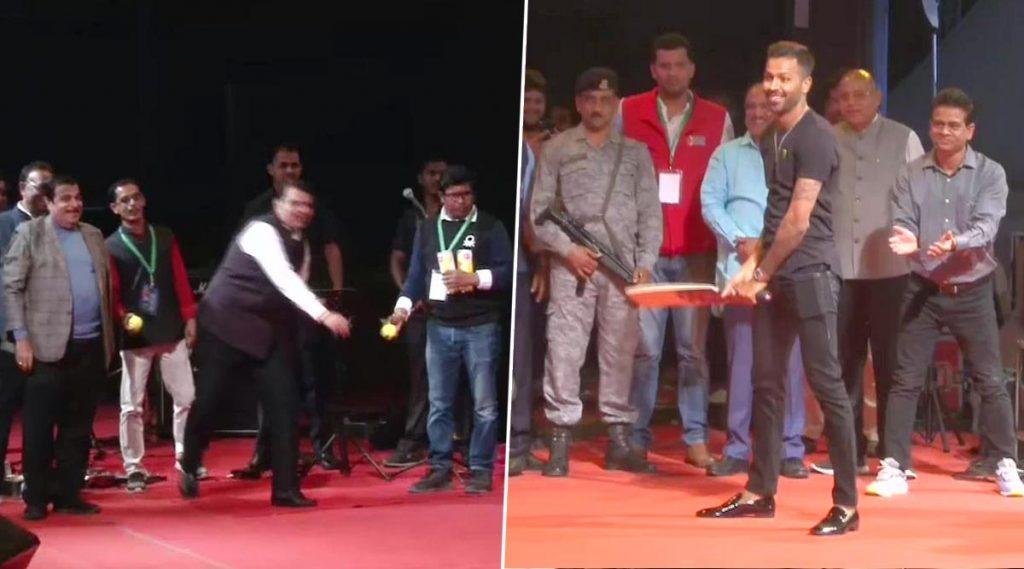 Khasdar Krida Mahotsav 2020: केंद्रीय मंत्री नितीन गडकरी, माजी मुख्यमंत्री देवेंद्र फडणवीस यांच्यासोबत हार्दिक पांड्या याची बल्लेबाजी (Watch Video)