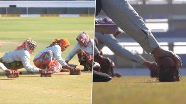 IND vs AUS 2nd ODI: राजकोट पीच तयार करण्यासाठीवृद्ध महिलांनी ब्रश वापरलेले पाहून Netizens उडवली सौरव गांगुली याची खिल्ली, पाहा हा Video