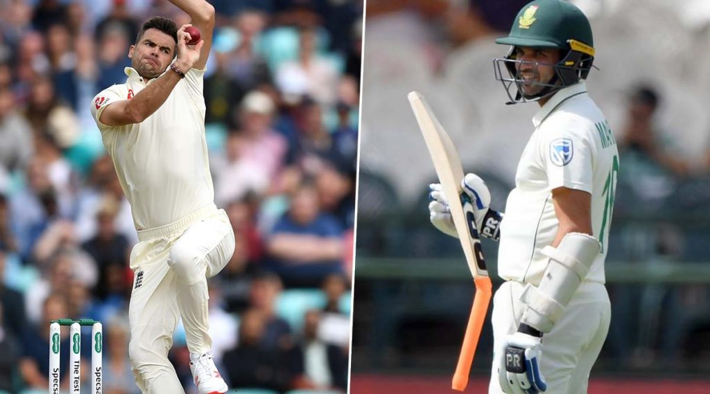 SA vs ENG: जेम्स अँडरसन याने दक्षिण आफ्रिकाविरुद्धटाकला असावेगवान बॉलकि दोन तुकड्यांमध्ये तुटली बॅट, फलंदाजही झालास्तब्ध, पाहा Photo