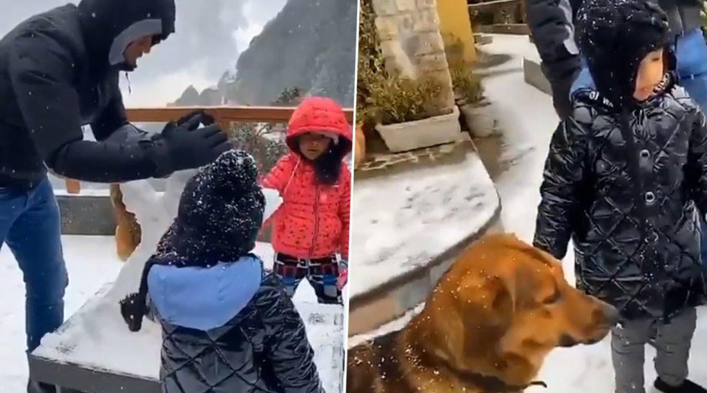 Video: एमएस धोनी कुटुंबासह घेतोय विंटर वेकेशनचा आनंद, मुलगी जीवा सोबत बनवला Snowman