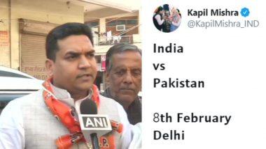 दिल्ली विधानसभा निवडणूक: '8 फेब्रुवारीला भारत विरुद्ध पाकिस्तान सामना' हे ट्विट भाजप आमदार कपिल मिश्रा यांना भोवणार? निवडणूक आयोगाने मागितले स्पष्टीकरण