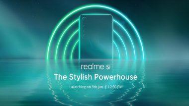 Realme 5i भारतात 9 जानेवारीला होणार लॉन्च; Flipkart वर टीजर लॉन्च