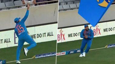 Video: रोहित शर्मा याची 'सुपरमॅन' उडी, जबरदस्त कॅच पकडत न्यूझीलंडच्या मार्टिन गप्टिल याला केले बाद