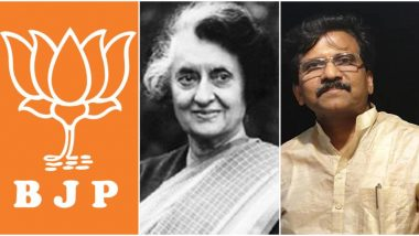 भाजपाला इंदिरा गांधी प्रिय झाल्याचा सर्वात जास्त आनंद: शिवसेना