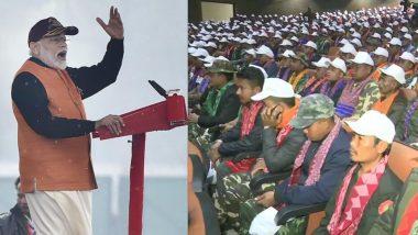 बंदी घातलेली संघटना एनडीएफबीच्या 1,615 सदस्यांचे आत्मसमर्पण; पंतप्रधान नरेंद्र मोदींनी दिली 'ही' प्रतिक्रिया