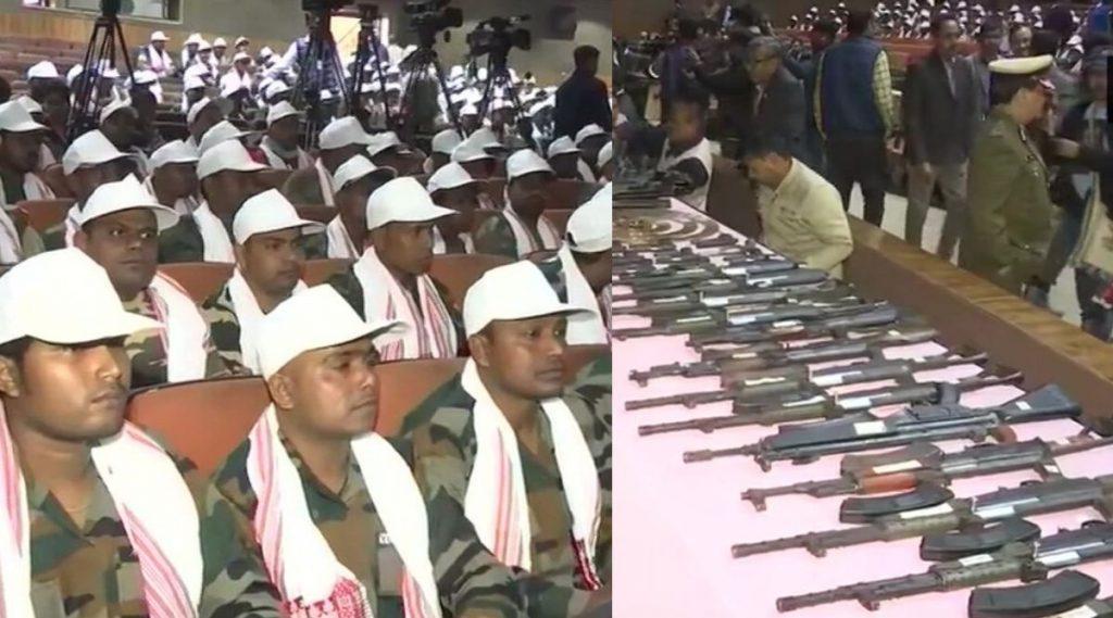 आसाम पोलिसांचे मोठे यश; बंदी घातलेल्या 8 संघटनांमधील 644 अतिरेक्यांचे, 177 शस्त्रांसह आत्मसमर्पण