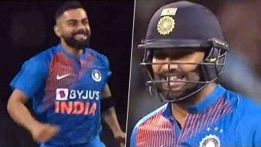 Video: रोहित शर्मा नेसुपर ओव्हरमध्ये सलग 2 षटकार मारल्यावर उत्साही विराट कोहली ने मैदानात धाव घेत 'हिटमॅन'ला मारली मिठी