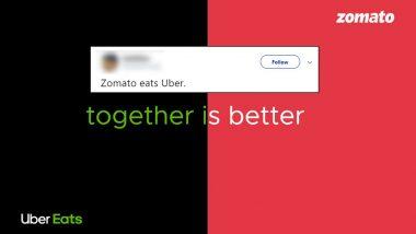 Zomato कडून Uber Eats ची खरेदी; तब्बल 2485 कोटी रुपयांमध्ये पार पडला व्यवहार