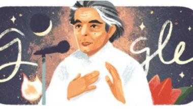 कैफी आझमी यांची 101 वी जयंती: उर्दू कवी, गीतकाराला गूगलची खास डूडलच्या माध्यमातून आदरांजली