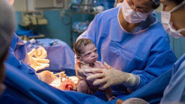 जन्म घेतल्यानंतर रडण्याऐवजी रागवलं नवजात बाळ; पहा व्हायरल फोटो