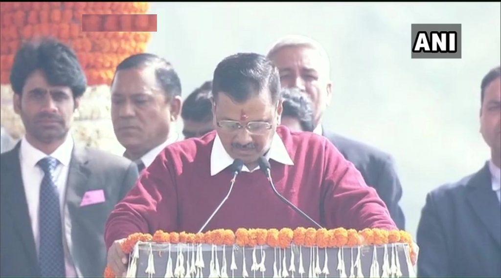 Arvind Kejriwal Swearing-In Ceremony: अरविंद केजरीवाल यांनी दिल्लीचे मुख्यमंत्री म्हणून घेतली शपथ; भाषण करत 'हम होंगे कामयाब' गाणेही गायले