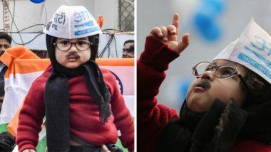 दिल्ली: अरविंद केजरीवाल यांच्या शपथविधी सोहळ्याला बेबी मफलरमॅनला आमंत्रण