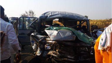 सोलापूर: एसटी आणि जीप ची धडक; अपघातात 4 जण ठार, 10 जखमी