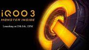 iQOO 3 स्मार्टफोनवर ग्राहकांना मिळणार 3 रुपयांची सूट, जाणून घ्या फिचर्ससह नवी किंमत