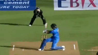 IND vs NZ 1st ODI: केएल राहुल याने न्यूझीलंडविरुद्ध ठोकलेला षटकार पाहूनसर्वच राहिले अवाक्, पाहा Video