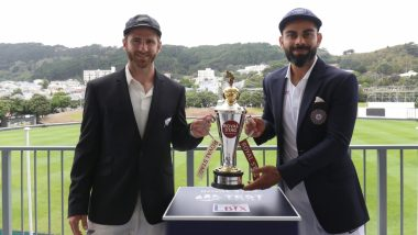 IND 122/5 in 55 Overs | IND vs NZ 1st Test Day 1 Live Score Updates: अजिंक्यरहाणे, रिषभ पंत चा डाव सावरण्याचा प्रयत्न, Tea नंतर पावसामुळे सामना सुरु होण्यास उशीर