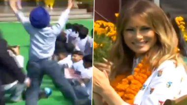 दिल्ली: US First Lady मेलानिया ट्र्म्प यांना पडली चिमुकल्याच्या भांगडा नृत्याची भुरळ;  दिली अशी दाद (Watch Video)