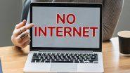 देशातील इंटरनेट बंदीमुळे अर्थव्यवस्थेला मोठा फटका; तब्बल 19 हजार कोटींचे नुकसान
