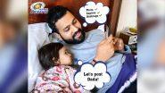 मुंबई इंडियन्सनेरोहित शर्मा आणि त्याच्या नवीनसोशल मीडिया मॅनेजरच्या शेअर केलेल्या फोटोवर Netizens फिदा