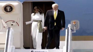 अहमदाबाद: अमेरिकेचे राष्ट्राध्यक्ष डोनाल्ड ट्र्म्प यांचे कुटुंबियांसह भारतामध्ये आगमन; सरदार वल्लभभाई पटेल आंतरराष्ट्रीय विमानतळावर PM नरेंद्र मोदी यांनी केलं स्वागत
