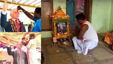 काय सांगता! चाहत्याने घरातच बांधले डोनाल्ड ट्रंप यांचे मंदिर; रोज करतो पूजा, दीर्घायूष्यासाठी दर शुक्रवारी उपवास