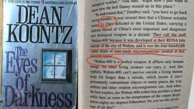 आश्चर्यचकारक! 40 वर्षांपूर्वी अमेरिकेत लिहिलेल्या पुस्तकात आढळला Corona Virus चा उल्लेख; शत्रू देशांचा नाश करण्यासाठी चीनने बनवले होते जैविक शस्त्र