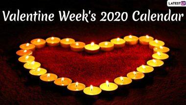 Valentine Week 2020 List: यंदा रोझ डे ते वेलेंटाइन डे 2020 ची संपूर्ण लिस्ट PDF स्वरूपात पहा आणि डाऊनलोड करा आठवड्याभराचं रोमॅन्टिक सेलिब्रेशन!