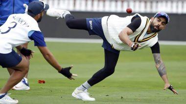 PHOTOS: न्यूझीलंडविरुद्ध टेस्ट मालिकेसाठी टीम इंडिया सज्ज, विराट कोहली ने शेअर केला फिल्डिंग प्रॅक्टिसचा फोटो